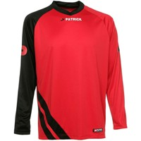 Patrick Victory Voetbalshirt Lange Mouw - Rood / Zwart