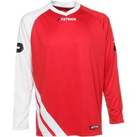 Patrick Victory Voetbalshirt Lange Mouw - Rood / Wit