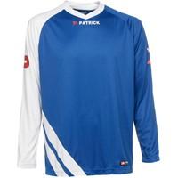 Patrick Victory Voetbalshirt Lange Mouw - Royal / Wit