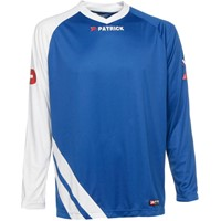 Patrick Victory Voetbalshirt Lange Mouw Kinderen - Royal / Wit
