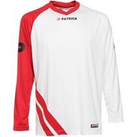 Patrick Victory Voetbalshirt Lange Mouw - Wit / Rood