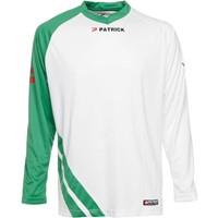 Patrick Victory Voetbalshirt Lange Mouw - Wit / Groen