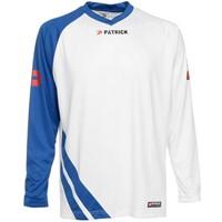 Patrick Victory Voetbalshirt Lange Mouw - Wit / Royal