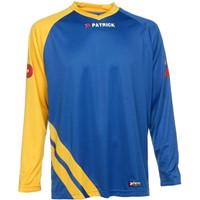 Patrick Victory Voetbalshirt Lange Mouw - Royal / Geel