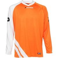 Patrick Victory Voetbalshirt Lange Mouw - Oranje / Wit