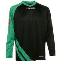Patrick Victory Voetbalshirt Lange Mouw - Zwart / Groen