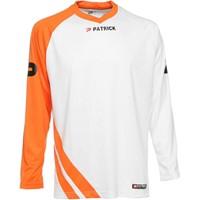 Patrick Victory Voetbalshirt Lange Mouw - Wit / Oranje