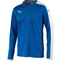 Puma Pitch Voetbalshirt Lange Mouw - Royal / Wit