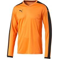 Puma Pitch Voetbalshirt Lange Mouw - Oranje / Zwart