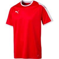 Puma Liga Shirt Korte Mouw - Rood / Wit