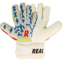 Real Fun Blue Keepershandschoenen - Wit / Royal / Rood / Groen