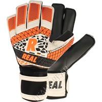 Real Hybrid Black Keepershandschoenen - Wit / Zwart / Fluo Oranje