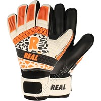 Real Black Keepershandschoenen Kinderen - Wit / Zwart / Fluo Oranje