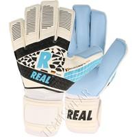 Real Hybrid Aqua Keepershandschoenen - Wit / Lichtblauw / Zwart