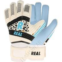 Real Aqua Keepershandschoenen Kinderen - Wit / Hemelsblauw / Zwart