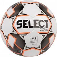 Select Futsal Master (shiny) Voetbal - Wit / Grijs / Fluo Oranje