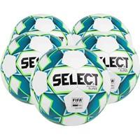 Select Futsal Super 5x Ballenpakket - Wit / Fluo Groen
