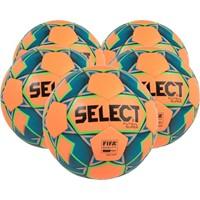 Select Futsal Super 5x Ballenpakket - Oranje / Fluo Groen