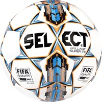 Select Brillant Super Tb Wedstrijdbal - Wit / Blauw / Oranje