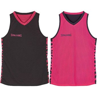 Picture of Spalding Essential 4her Reversible Shirt Dames - Antraciet / Roze