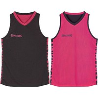 Spalding Essential 4her Reversible Shirt Dames - Antraciet / Roze
