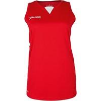 Spalding 4her III Basketbalshirt Dames - Rood / Wit