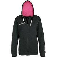 Spalding 4her Team II Sweater Met Kap Dames - Antraciet / Roze