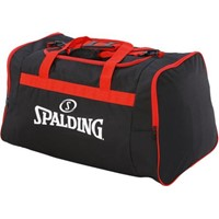 Spalding Team Bag Medium Sporttas Met Zijvakken - Zwart / Rood