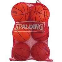 Spalding (7-ball) Basketball Mesh Bag - Rood