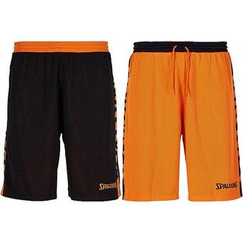 Picture of Spalding Essential 2.0 Reversible Short - Zwart / Oranje