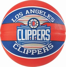 Picture of Spalding La Clippers (size 7) Team Outdoor Basketbal - Rood / Blauw