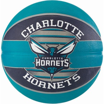 Picture of Spalding Charlotte Hornets (size 7) Team Outdoor Basketbal - Zwart / Groen
