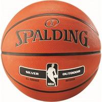 Spalding Nba Silver Series Rubber Basketbal - Oranje