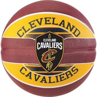 Picture of Spalding Cleveland Cavaliers (size 5) Team Outdoor Basketbal - Bordeaux / Geel