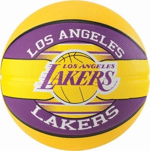 Picture of Spalding La Lakers (size 5) Team Outdoor Basketbal - Geel / Paars