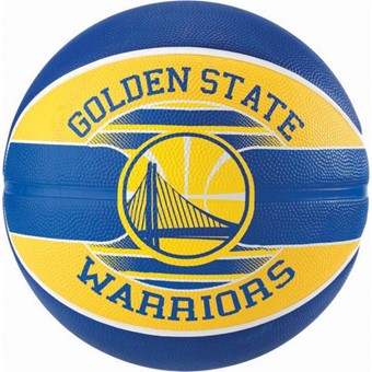 Picture of Spalding Golden State Warriors (size 7) Team Outdoor Basketbal - Royal / Geel