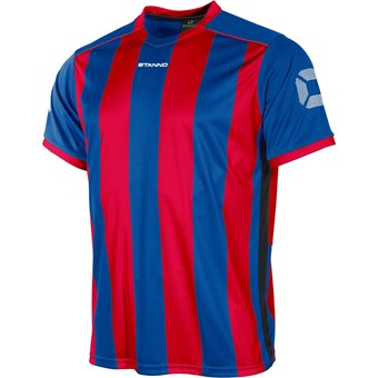 Picture of Stanno Brighton Shirt Korte Mouw Kinderen - Royal / Rood