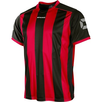 Picture of Stanno Brighton Shirt Korte Mouw Kinderen - Rood / Zwart