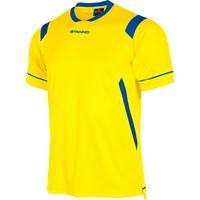 Stanno Arezzo Shirt Korte Mouw Kinderen - Geel / Royal
