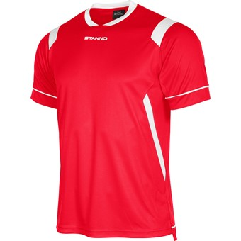 Picture of Stanno Arezzo Shirt Korte Mouw Kinderen - Rood / Wit