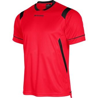 Picture of Stanno Arezzo Shirt Korte Mouw Kinderen - Rood / Zwart