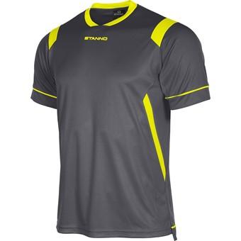 Picture of Stanno Arezzo Shirt Korte Mouw Kinderen - Antraciet / Fluogeel