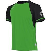Stanno Liga Shirt Korte Mouw - Bright Green / Zwart