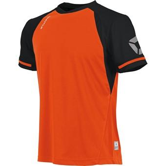 Picture of Stanno Liga Shirt Korte Mouw - Shocking Orange / Zwart