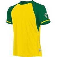 Stanno Liga Shirt Korte Mouw - Geel / Groen