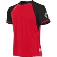 Stanno Liga Shirt Korte Mouw - Rood / Zwart