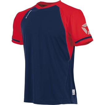 Picture of Stanno Liga Shirt Korte Mouw - Marine / Rood