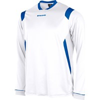 Stanno Arezzo Voetbalshirt Lange Mouw - Wit / Royal
