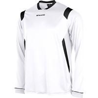Stanno Arezzo Voetbalshirt Lange Mouw Kinderen - Wit / Zwart