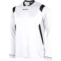 Stanno Arezzo Voetbalshirt Lange Mouw - Wit / Zwart